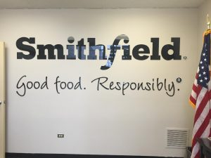 Smithfield Lobby Sign Vinyl Lettering