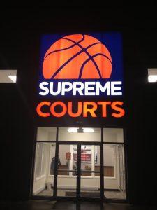 Supreme Courts Backlit Storefront Sign