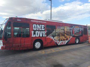 Raising Cane's Bus Wrap