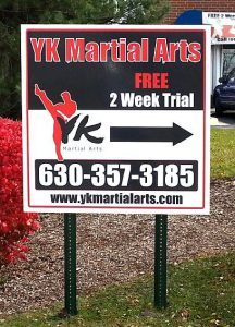 Martial Arts Academy Promotional Signage