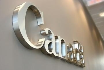 waterjet cut stainless steel dimensional letters