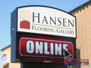 Outdoor Lighted Business Signs