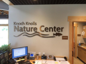 Nature Center Lobby Directional Signs